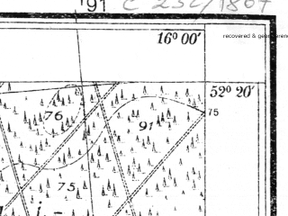 Reduced fragment of topographic map pl--wig--025k--P39S22-G--(1935)--N052-20_E015-50--N052-15_E016-00