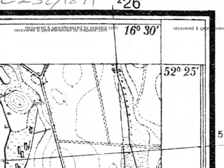 Reduced fragment of topographic map pl--wig--025k--P39S23-D--(1937)--N052-25_E016-20--N052-20_E016-30