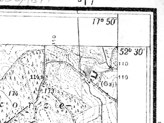 Reduced fragment of topographic map pl--wig--025k--P39S25-C--(1934)--N052-30_E017-40--N052-25_E017-50