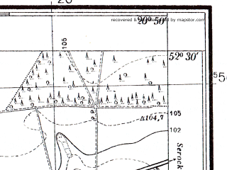 Reduced fragment of topographic map pl--wig--025k--P39S31-C--(1942)--N052-30_E020-40--N052-25_E020-50; towns and cities Nowy Dwor Mazowiecki