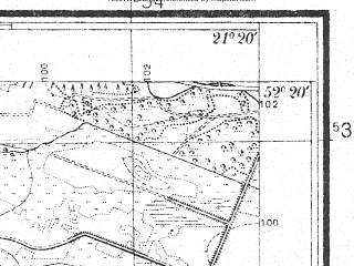 Reduced fragment of topographic map pl--wig--025k--P39S32-I--(1930)--N052-20_E021-10--N052-15_E021-20