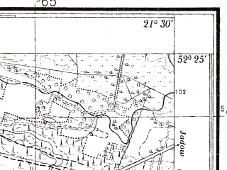 Reduced fragment of topographic map pl--wig--025k--P39S33-D--(1939)--N052-25_E021-20--N052-20_E021-30