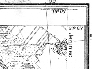 Reduced fragment of topographic map pl--wig--025k--P40S22-G--(1935)--N052-05_E015-50--N052-00_E016-00; towns and cities Kargowa
