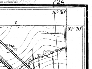 Reduced fragment of topographic map pl--wig--025k--P40S23-D--(1933)--N052-10_E016-20--N052-05_E016-30