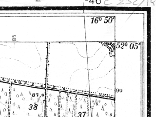 Reduced fragment of topographic map pl--wig--025k--P40S23-I--(1933)--N052-05_E016-40--N052-00_E016-50