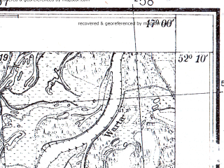 Reduced fragment of topographic map pl--wig--025k--P40S24-D--(1933)--N052-10_E016-50--N052-05_E017-00