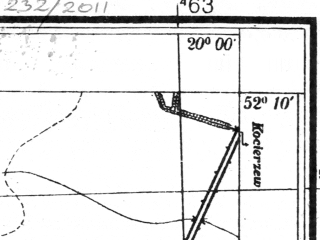 Reduced fragment of topographic map pl--wig--025k--P40S30-D--(1944)--N052-10_E019-50--N052-05_E020-00; towns and cities Lowicz