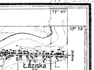 Reduced fragment of topographic map pl--wig--025k--P40S33-B--(1943)--N052-15_E021-30--N052-10_E021-40; towns and cities Minsk Mazowiecki