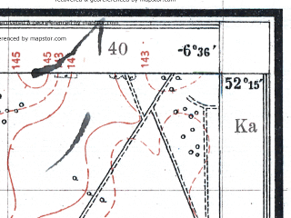 Reduced fragment of topographic map pl--wig--025k--P40S37-C--(1925)--N052-15_E023-40--N052-10_E023-50