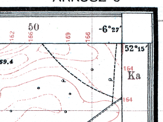 Reduced fragment of topographic map pl--wig--025k--P40S38-A--(1925)--N052-15_E023-50--N052-10_E024-00; towns and cities Zhabinka