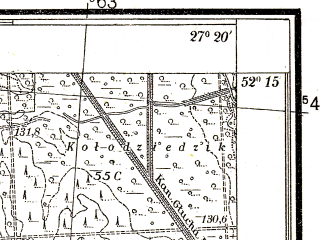 Reduced fragment of topographic map pl--wig--025k--P40S44-C--(1938)--N052-15_E027-10--N052-10_E027-20