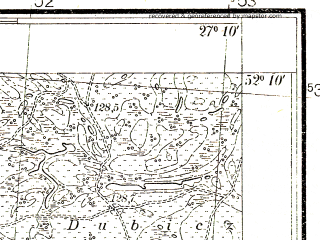 Reduced fragment of topographic map pl--wig--025k--P40S44-E--(1938)--N052-10_E027-00--N052-05_E027-10