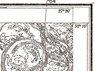 Reduced fragment of topographic map pl--wig--025k--P40S44-F--(1937)--N052-10_E027-10--N052-05_E027-20
