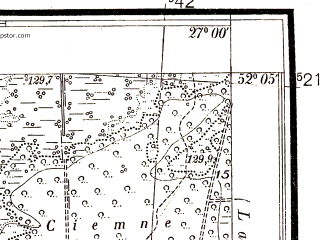 Reduced fragment of topographic map pl--wig--025k--P40S44-G--(1938)--N052-05_E026-50--N052-00_E027-00