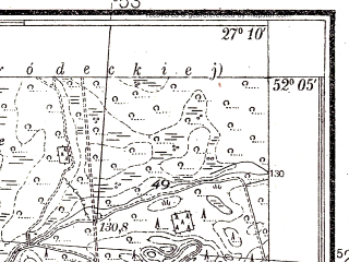 Reduced fragment of topographic map pl--wig--025k--P40S44-H--(1938)--N052-05_E027-00--N052-00_E027-10