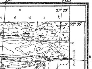 Reduced fragment of topographic map pl--wig--025k--P40S44-I--(1937)--N052-05_E027-10--N052-00_E027-20; towns and cities David-gorodok