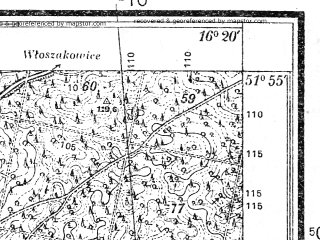Reduced fragment of topographic map pl--wig--025k--P41S22-F--(1933)--N051-55_E016-10--N051-50_E016-20