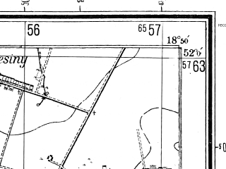 Reduced fragment of topographic map pl--wig--025k--P41S27-C--(1944)--N052-00_E018-40--N051-55_E018-50; towns and cities Uniejow