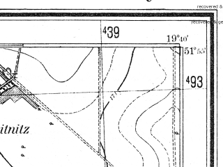 Reduced fragment of topographic map pl--wig--025k--P41S29-E--(1943)--N051-55_E019-30--N051-50_E019-40; towns and cities Strykow