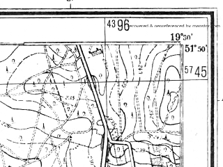 Reduced fragment of topographic map pl--wig--025k--P41S29-G--(1944)--N051-50_E019-20--N051-45_E019-30