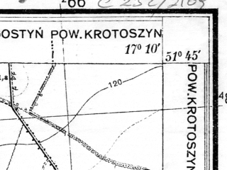 Reduced fragment of topographic map pl--wig--025k--P42S24-B--(1933)--N051-45_E017-00--N051-40_E017-10