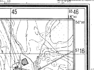 Reduced fragment of topographic map pl--wig--025k--P42S27-H--(1944)--N051-35_E018-30--N051-30_E018-40