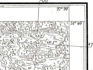 Reduced fragment of topographic map pl--wig--025k--P42S44-F--(1938)--N051-40_E027-10--N051-35_E027-20