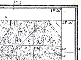Reduced fragment of topographic map pl--wig--025k--P43S25-C--(1933)--N051-30_E017-40--N051-25_E017-50