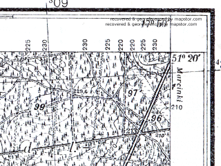 Reduced fragment of topographic map pl--wig--025k--P43S25-I--(1933)--N051-20_E017-40--N051-15_E017-50; towns and cities Sycow