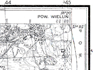 Reduced fragment of topographic map pl--wig--025k--P43S26-F--(1936)--N051-25_E018-10--N051-20_E018-20