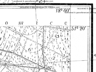 Reduced fragment of topographic map pl--wig--025k--P43S26-G--(1936)--N051-20_E017-50--N051-15_E018-00