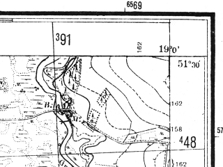 Reduced fragment of topographic map pl--wig--025k--P43S28-A--(1944)--N051-30_E018-50--N051-25_E019-00