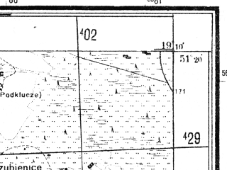 Reduced fragment of topographic map pl--wig--025k--P43S28-H--(1944)--N051-20_E019-00--N051-15_E019-10; towns and cities Szczercow