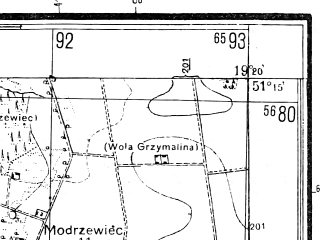 Reduced fragment of topographic map pl--wig--025k--P44S28-C--(1944)--N051-15_E019-10--N051-10_E019-20