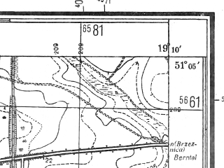 Reduced fragment of topographic map pl--wig--025k--P44S28-H--(1944)--N051-05_E019-00--N051-00_E019-10