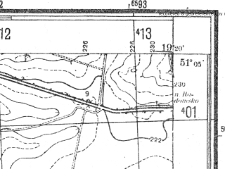 Reduced fragment of topographic map pl--wig--025k--P44S28-I--(1944)--N051-05_E019-10--N051-00_E019-20