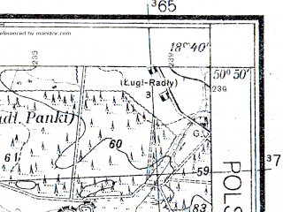 Reduced fragment of topographic map pl--wig--025k--P45S27-H--(1933)--N050-50_E018-30--N050-45_E018-40