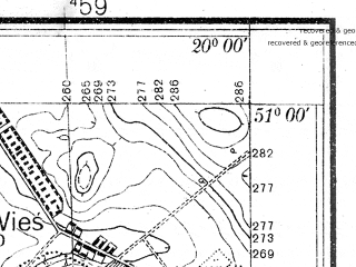 Reduced fragment of topographic map pl--wig--025k--P45S30-A--(1936)--N051-00_E019-50--N050-55_E020-00