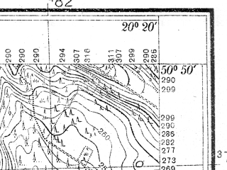 Reduced fragment of topographic map pl--wig--025k--P45S30-I--(1937)--N050-50_E020-10--N050-45_E020-20