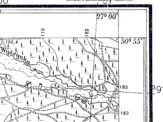 Reduced fragment of topographic map pl--wig--025k--P45S44-D--(1938)--N050-55_E026-50--N050-50_E027-00; towns and cities Bystrichi