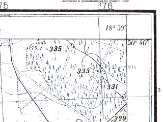 Reduced fragment of topographic map pl--wig--025k--P46S27-F--(1933)--N050-40_E018-40--N050-35_E018-50