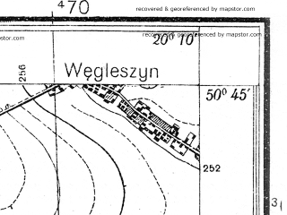 Reduced fragment of topographic map pl--wig--025k--P46S30-B--(1936)--N050-45_E020-00--N050-40_E020-10