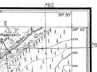 Reduced fragment of topographic map pl--wig--025k--P46S30-C--(1936)--N050-45_E020-10--N050-40_E020-20