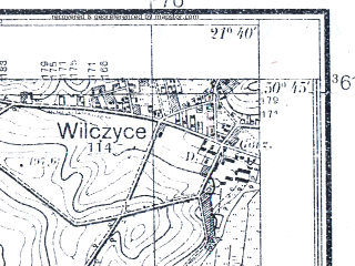 Reduced fragment of topographic map pl--wig--025k--P46S33-B--(1938)--N050-45_E021-30--N050-40_E021-40