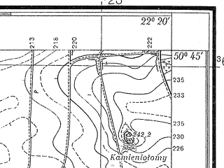 Reduced fragment of topographic map pl--wig--025k--P46S34-C--(1938)--N050-45_E022-10--N050-40_E022-20