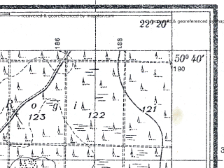Reduced fragment of topographic map pl--wig--025k--P46S34-F--(1938)--N050-40_E022-10--N050-35_E022-20