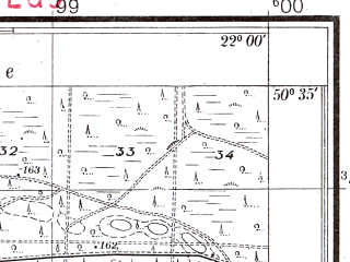 Reduced fragment of topographic map pl--wig--025k--P46S34-G--(1938)--N050-35_E021-50--N050-30_E022-00