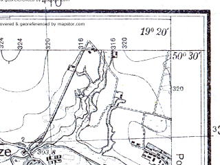 Reduced fragment of topographic map pl--wig--025k--P47S28-C--(1933)--N050-30_E019-10--N050-25_E019-20; towns and cities Siewierz