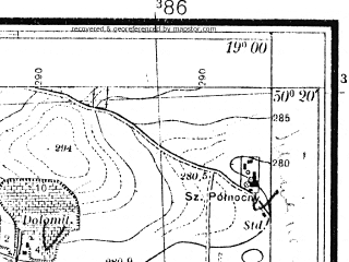 Reduced fragment of topographic map pl--wig--025k--P47S28-G--(1933)--N050-20_E018-50--N050-15_E019-00