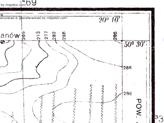 Reduced fragment of topographic map pl--wig--025k--P47S30-B--(1936)--N050-30_E020-00--N050-25_E020-10
